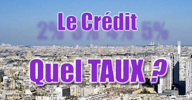 Taux de crédit