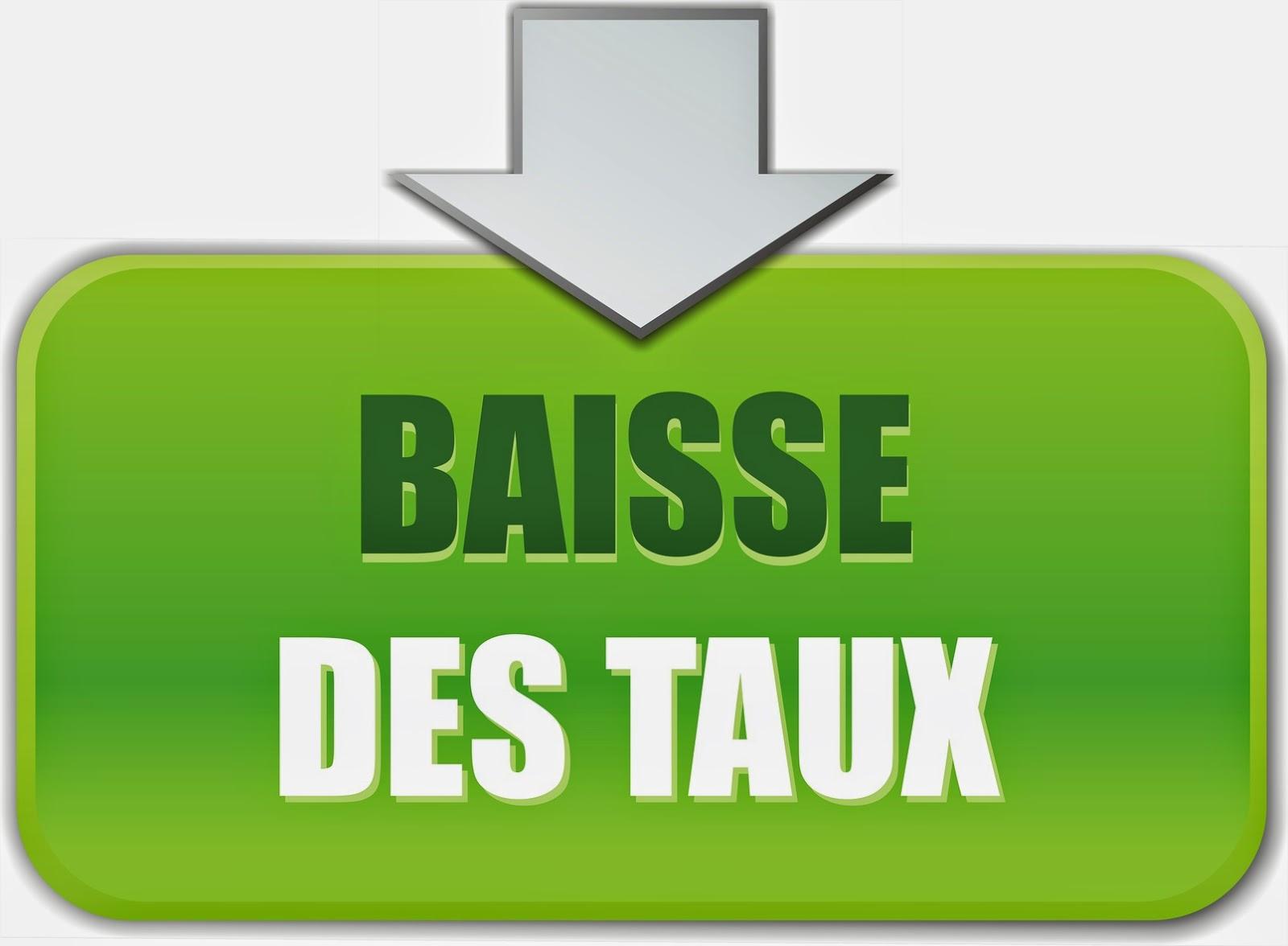 Crédit immobilier en France : Les taux accusent une baisse record !